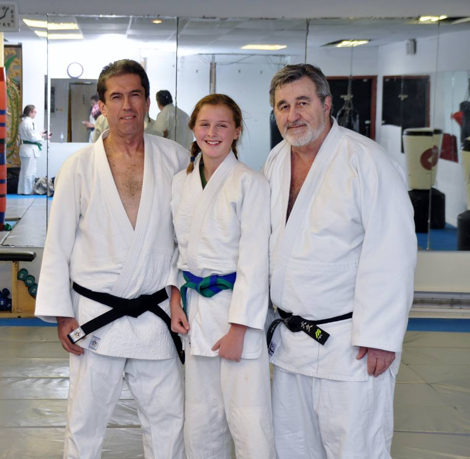 Leah earns her Green/Blue Belt